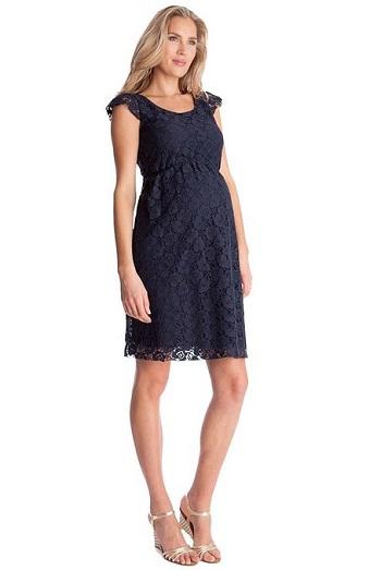 Seraphine Maternity Navy Lace Maternity Dress | Maternity style #maternitydress
