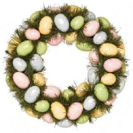 easter egg wreath 15 inch