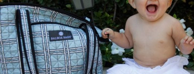 Stylish Diaper Bags For Mom - Balboa Baby Tote Bag, Blue Plaid