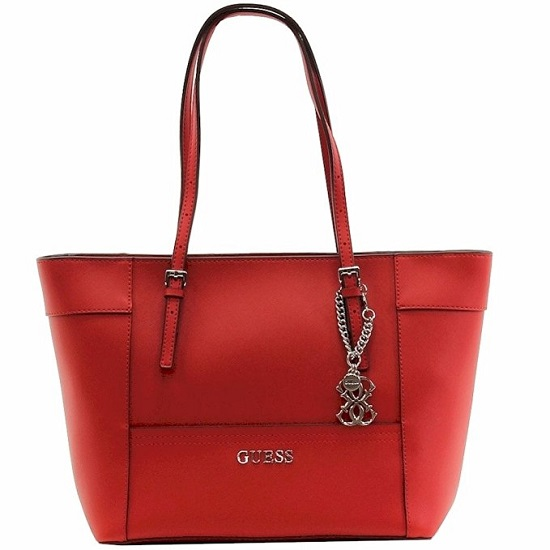 GUESS Delaney Small Classic Tote in CNY red