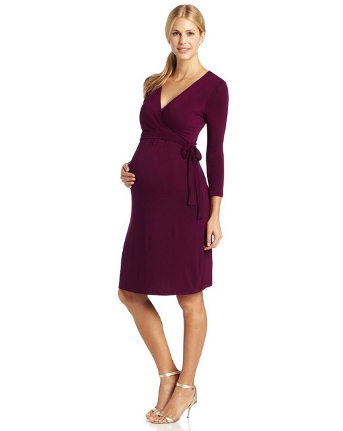 Ripe Maternity Women's Ballet Wrap Nursing Dress