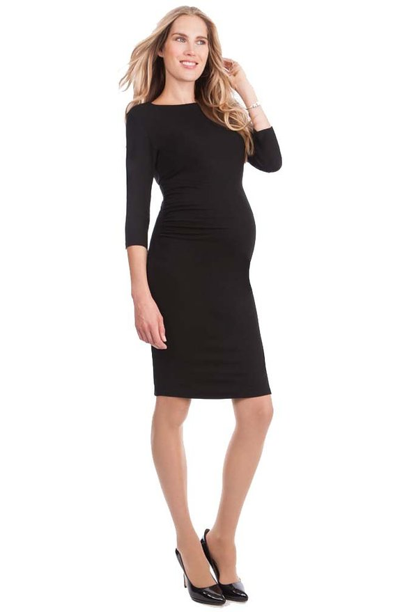 Seraphine Maternity Women's Black Shift Maternity Dress