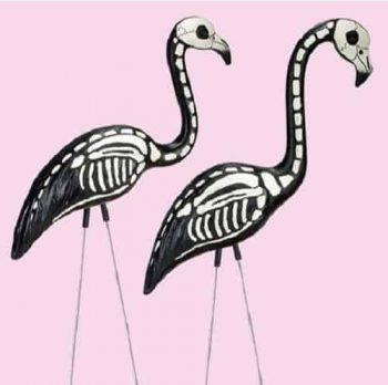 Halloween Skeleton Yard Flamingos Lawn Décor