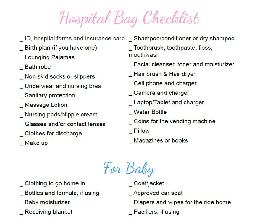 Pregnancy Hospital Bag Checklist Mommy Today Magazine