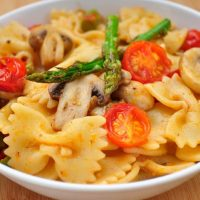 Pasta With Asparagus and Mushrooms recipe 7