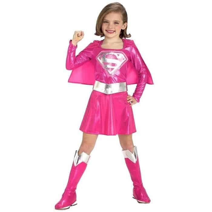 Pink Supergirl costume