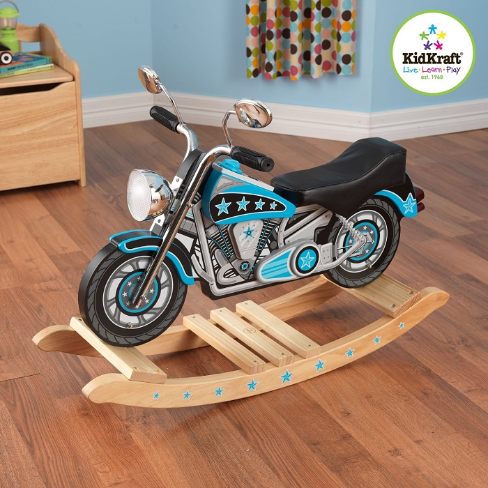 Motorcycle rocking horse mommy today magazine for Scooter rocking horse
