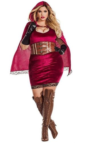 Women's Plus Size Red Riding Hood Costume | sexy plus size Halloween costumes for women