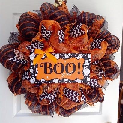 Halloween deco mesh wreath - Halloween Decor