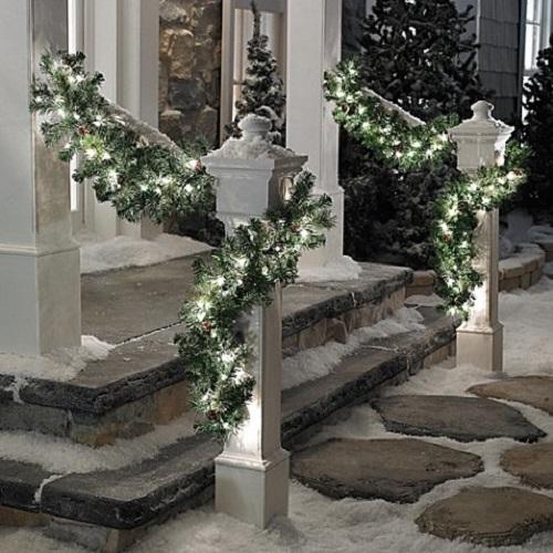 pre lit christmas garland