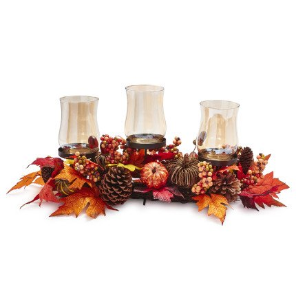 Pumpkin Hurricane Candle Holder - #Thanksgiving Centerpiece