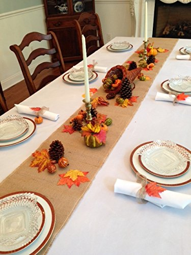 Thanksgiving Tablecloth, Napkins and Decorative Fall Setting