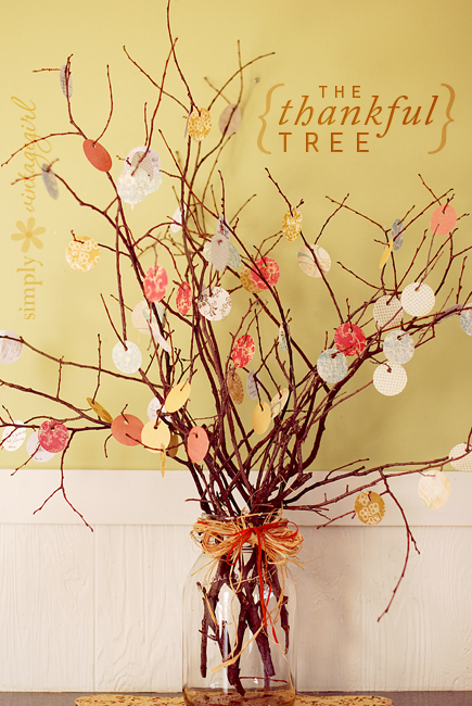 Thankful tree - Ask everyone to write what they're thankful for and hang it on the thankful tree