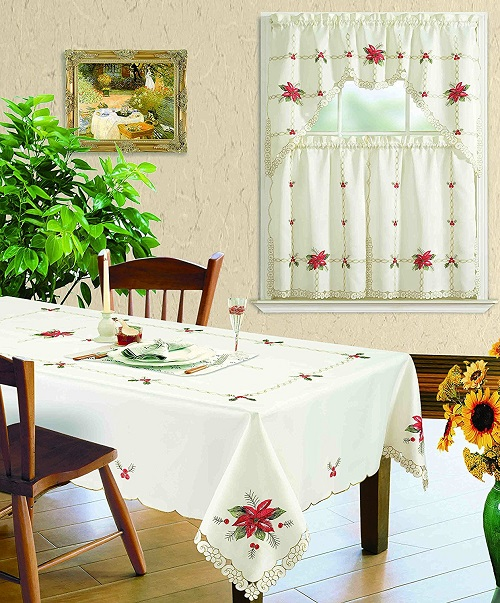 Embroidered Christmas Tablecloth - Tablecloths for Christmas