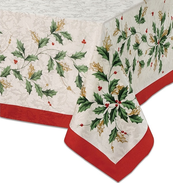 Lenox Golden Holly Tablecloth - Tablecloths for Christmas