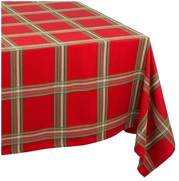 Lenox Holiday Gathering Plaid Tablecloth - Tablecloths for Christmas