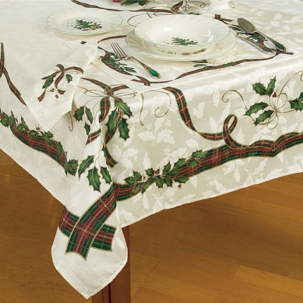 lenox holiday nouveau tablecloth tablecloths for christmas