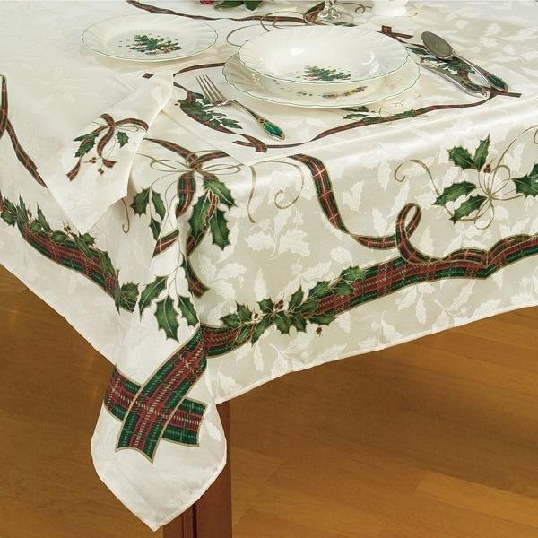 Lenox Holiday Nouveau Tablecloth - Tablecloths for Christmas
