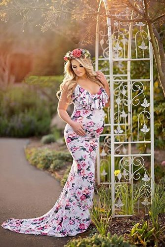 Maternity Photoshoot Dress #maternitystyle