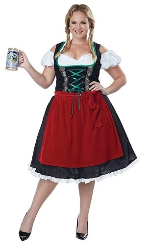 Plus Size Oktoberfest Costume for Women