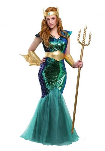Sexy Plus Size Mermaid Costume - Look like the Goddess of the Sea in the Gorgeous Halloween Costume
