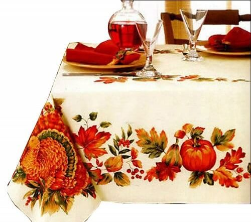 Harvest Festival Pumpkin Tablecloth