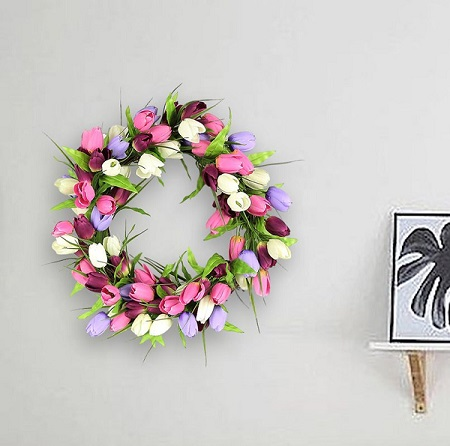 Spring Tulip Wreath | Easter Door Wreaths