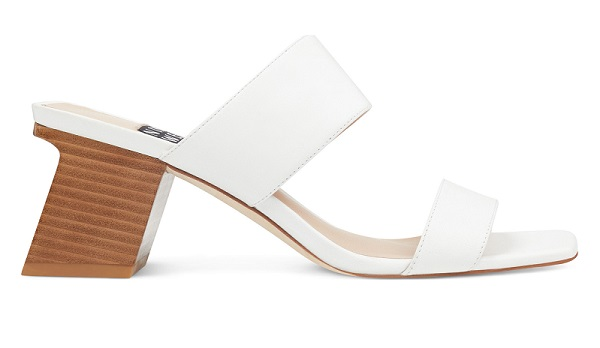 Churen Open Toe Sandals in White Leather #SummerSandals