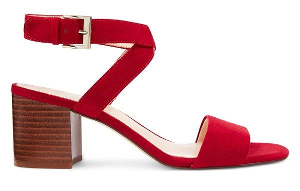 Gareth Ankle Strap Sandals in Red #summersandals