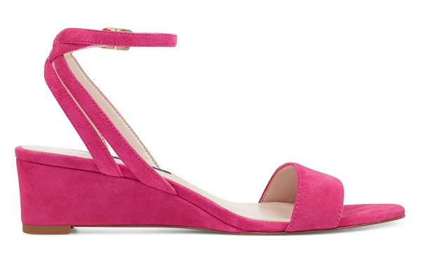 Lewer Wedge Sandals in Pink Suede #wedgesandals #summersandals