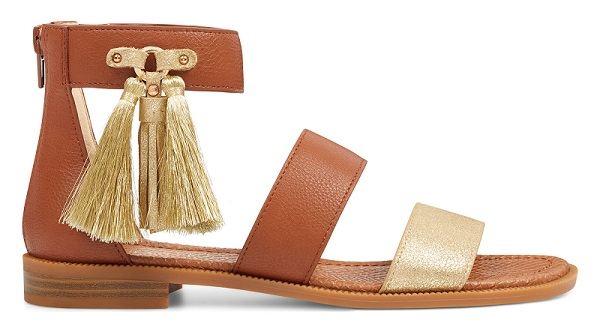 Xaylor Ankle Strap Sandals in Gold Fabric #summersandals