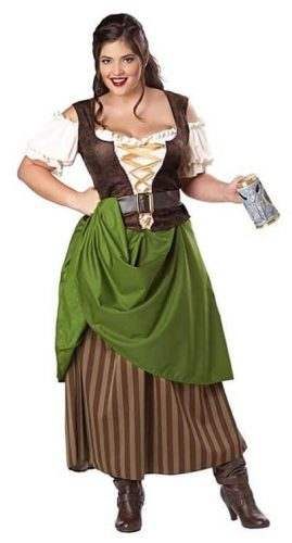 Sassy Tavern Maiden Plus Size Costume