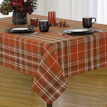 Autumn Plaid Thanksgiving Tablecloth