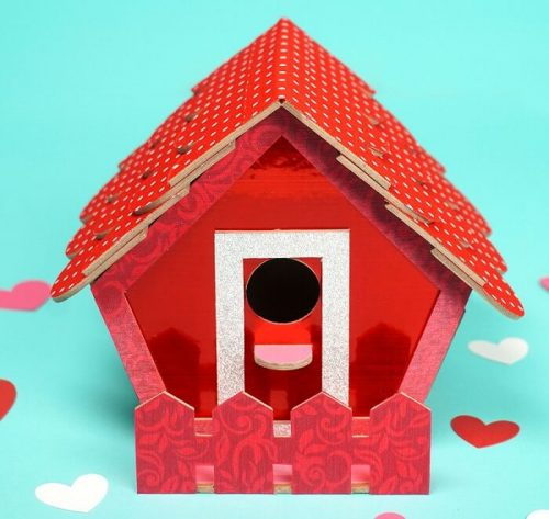 Birdhouse Valentine Box - Valentine's Day Crafts for Adults