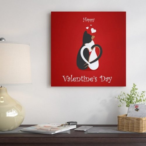 Cat Valentine Day Wall Art