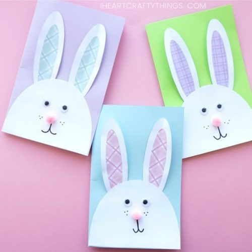 Cute Bunny DIY Easter Card - Easter Crafts
