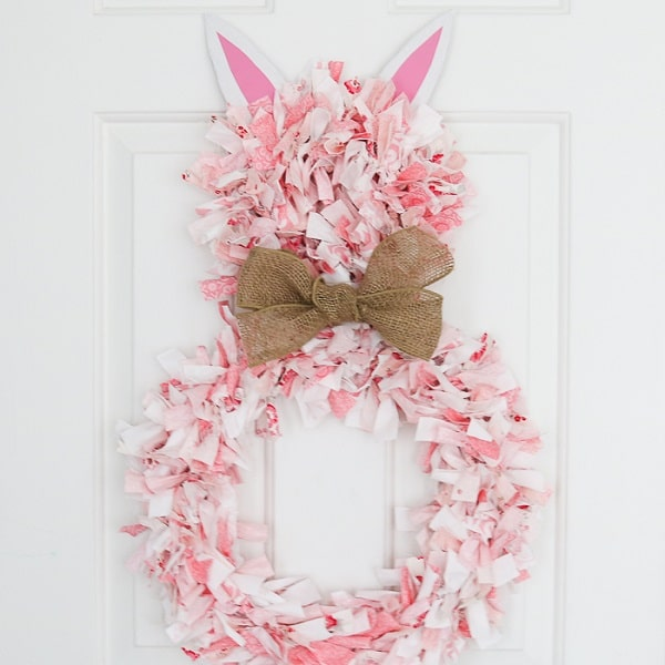 DIY Bunny Rag Wreath