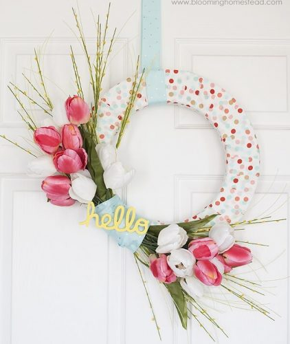 DIY Easter Wreaths - Hello Spring Wreath