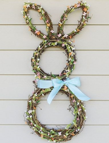 DIY Grapevine Bunny Wreath - Easter Wreaths to Make
