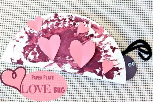 DIY Paper Plate Love Bug - February Crafts for Kids - DIY Valentine's Day Ideas for Kids