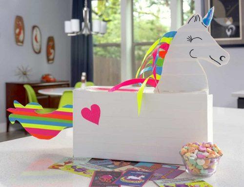 Duck Tape DIY Unicorn Valentine's Box