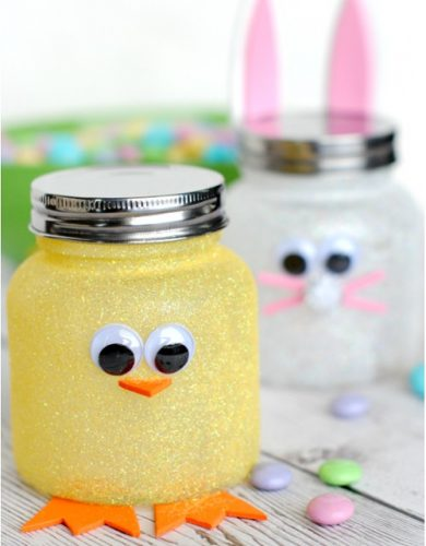 Easter Candy Jars | Easter Mason Jar Craft