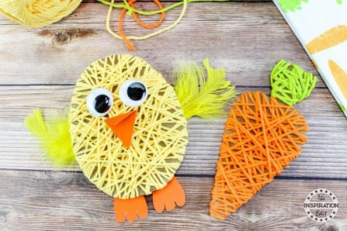 Easter Chick Yarn Art Project