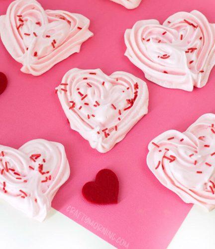 Heart Meringue Cookies