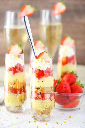 Mini Strawberry Champagne Trifles