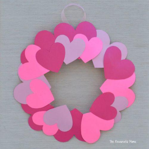 Paper Plate Valentine's Day Heart Wreath - DIY Valentine's Day Wreaths Craft