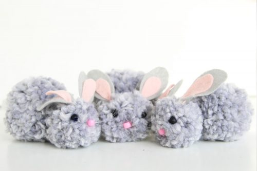 Pom Pom Bunnies - Spring Bunny Craft
