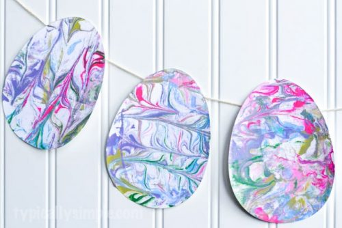 Shaving Cream Marbled Paper Easter Eggs | Easter Craft Ideas