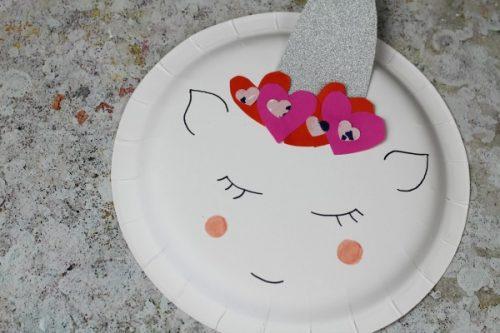 Unicorn Paper Plate Valentines Craft - Valentine's Day Crafts for Kids