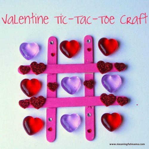 Valentine Heart Tic-Tac-Toe Craft - Valentine Craft Ideas for Kids